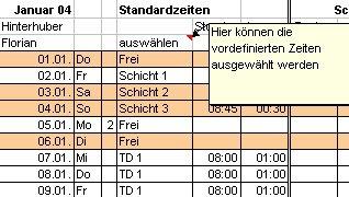 AZEME Arbeitszeiterfassung mit Excel